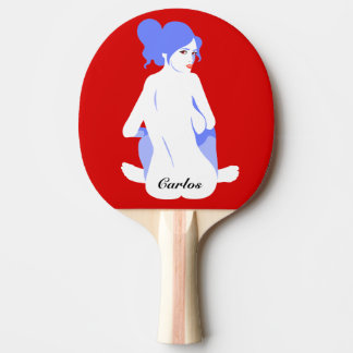 "Personalized ""Tramp Stamp"" Ping Pong Paddle"