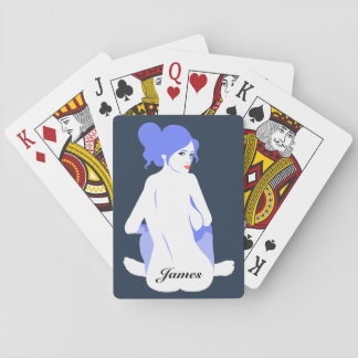 "Personalized ""Tramp Stamp"" Playing Cards for Men"