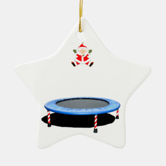personalized trampoline Christmas gift Ceramic Ornament