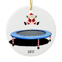 personalized trampolining ceramic ornament