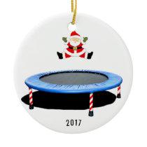 personalized trampolining ceramic ornament