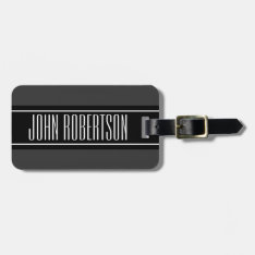 Personalized Travel Luggage Tag | Elegant Style at Zazzle
