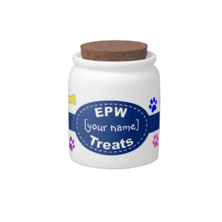 Personalized Treat Jar Candy Dishes