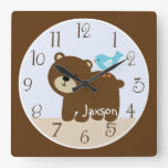 """Personalized """"Tree Tops Bear/Forest Friends"""" Clock"""