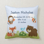 Personalized Tree Tops Forest Pillow Keepsake