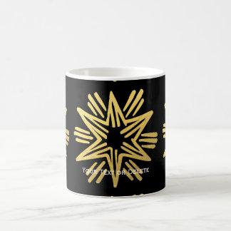 Personalized Trendy Gold Foil Star Festive Holiday Coffee Mug