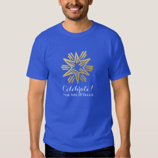 Personalized Trendy Gold Foil Star Festive Holiday Shirt