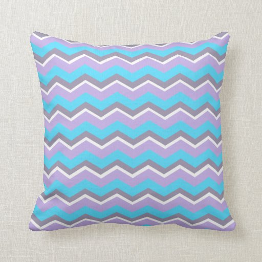 Personalized Trendy Turquoise Purple Chevron Throw Pillows Zazzle