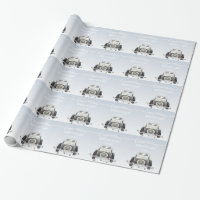 Personalized Trendy Wedding Wrapping Paper