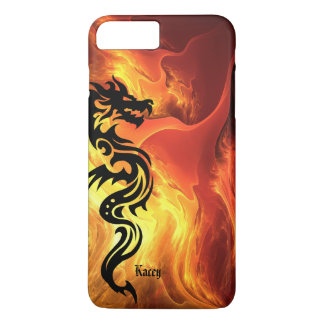Personalized Tribal Dragon in Flames iPhone 7 Plus Case