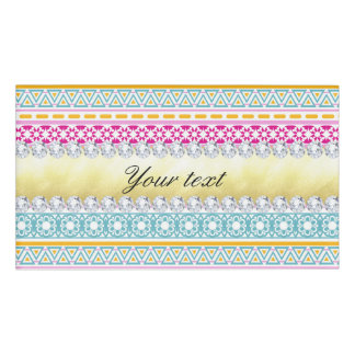 Personalized Tribal Pattern and Diamonds Name Tag