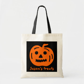 Personalized trick or treat bag for Halloween