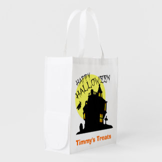Personalized Trick or Treat Bag Grocery Bag