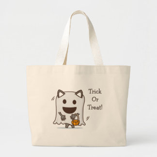Personalized Trick Or Treat Halloween Ghost bag
