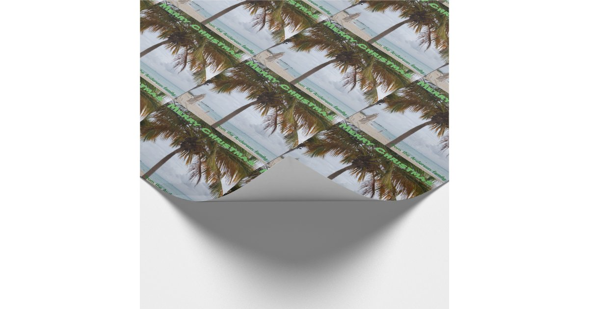 personalized tropical palm tree wrapping paper zazzle
