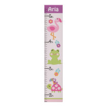 Personalized Tropical Garden Animals Growth Chart