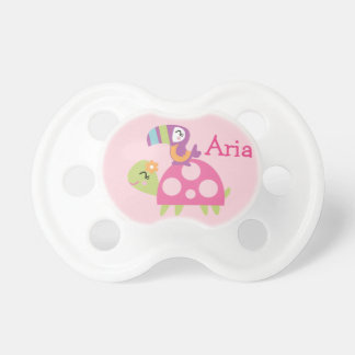 "Personalized ""Tropical Garden Turtle""  Pacifier BooginHead Pacifier"