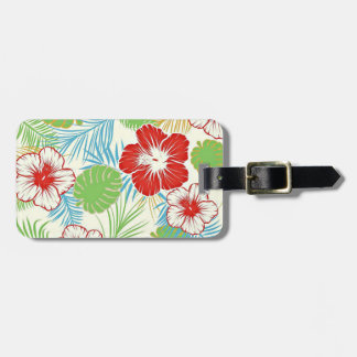 Personalized Tropical Hibiscus Hawaiian Floral Travel Bag Tags