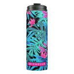 Personalized Tropical Leaves Thermal Tumbler