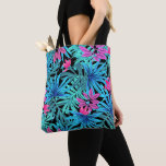Personalized Tropical Leaves Tote Bag