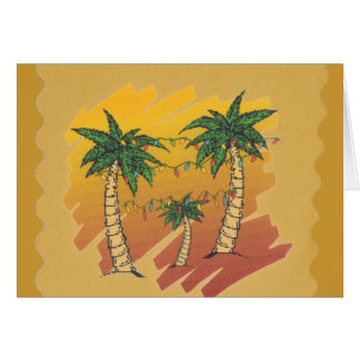 Personalized Tropical Palm Trees Christmas Card