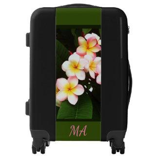 Personalized Tropical Pink Frangipani Flower Luggage