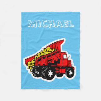 Personalized trucks | boys name fleece blanket