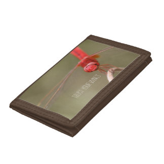 Personalized Trust Your Wings Dragonfly Tri-fold Wallets