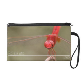 Personalized Trust Your Wings Dragonfly Wristlet Purse