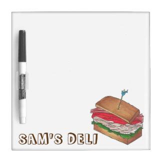Personalized Turkey Club Sandwich Shop Diner Deli Dry Erase Board