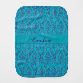 Personalized Turquoise Lace Baby Cloth