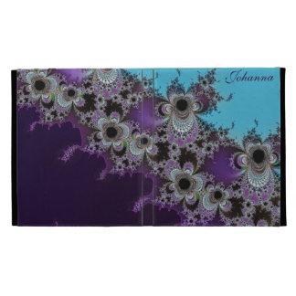 Personalized Turquoise  Purple Fractal iPad Case