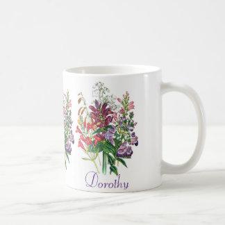 Personalized Turtlehead and Beardtongue Flowers Coffee Mug