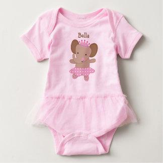 Personalized Tutu Cute Elephant Ballerina Baby-Einteiler