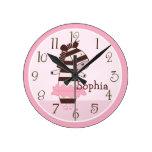 Personalized Tutu Cute/ZebraAnimals Clock