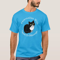 PERSONALIZED Tuxie Tuxedo Cat T-Shirt