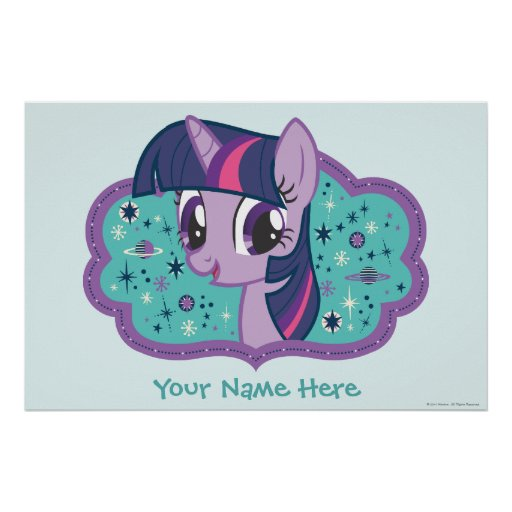 Personalized Twilight Sparkle Poster