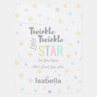 Personalized Twinkle Twinkle Little Star Boy/Girl Baby Blanket