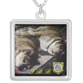 Personalized Two Bulldog Brand BFF Necklace