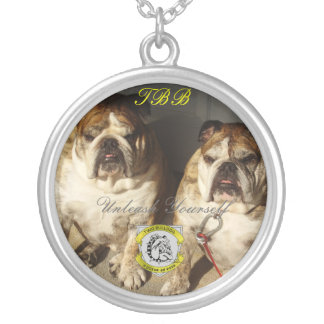 Personalized Two Bulldog Brand INITIALS Necklace