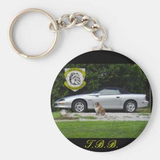 Personalized Two Bulldog Brand Z28 Keychain