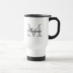 Personalized Typography Monogram To Go Travel Mug at Zazzle