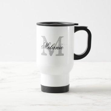 logotees Personalized typography monogram to go travel mug