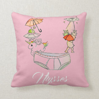 Personalized U is for _______ pillow