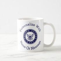 Personalized U.S. Navy Emblem Coffee Mug