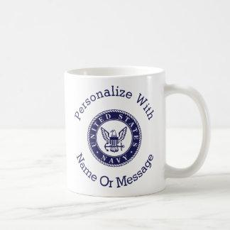 Personalized U.S. Navy Emblem Coffee Mug