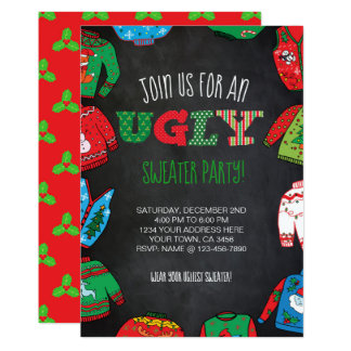 Personalized Ugly Sweater Party Invite