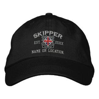 Personalized UK Flag Skipper Nautical Embroidered Baseball Cap