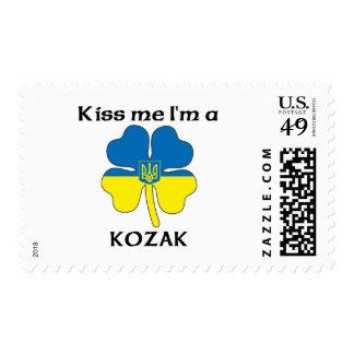 Personalized Ukranian Kiss Me I'm Kozak Postage Stamp