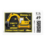 Personalized Under Construction Birthday Party Postage Stamps